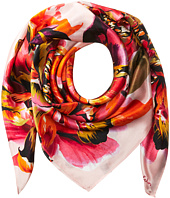Echo Design - Abstract Floral Silk Square Scarf