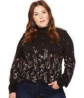 Lucky Brand - Plus Size Mock Neck Floral Top