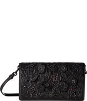 COACH - Foldover Crossbody Clutch In Glovetanned Leather With Tea Rose Tooling