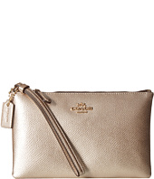 COACH - Box Program Metallic Small Wristlet