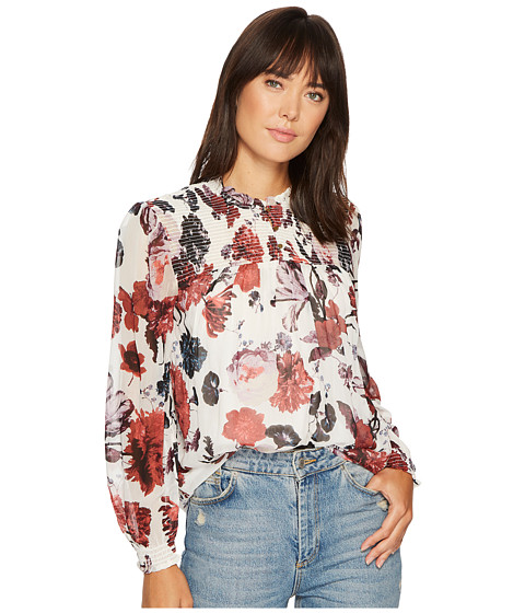 Lucky Brand Open Floral Print Top