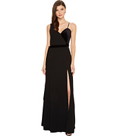 JILL JILL STUART - Mixed Media Velvet One Shoulder Dress