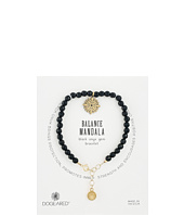 Dogeared - Gem Bracelet, Balance Mandala, Small Balance Mandala, Black Onyx Bead