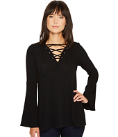 Karen Kane - Lace-Up Bell Sleeve Top