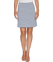 Three Dots - Breton Stripe Mini Skirt