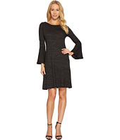 Three Dots - Nepp Jersey Flutter Sleeve Dress
