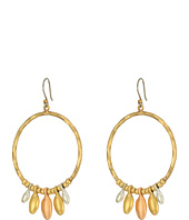 Lucky Brand - Tri-Tone Dangle Hoop Earrings