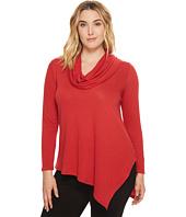 Karen Kane Plus - Plus Size Cowl Neck Angled Hem Sweater