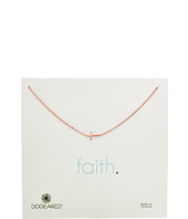 Dogeared - Faith, Small Sideways Cross Necklace
