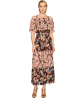 FUZZI - Off the Shoulder Butterfly Patchwork Dress Cover-Up