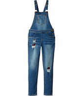 Tommy Hilfiger Kids - Denim Overall with Plaid Patch (Little Kids/Big Kids)