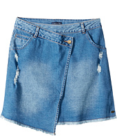 Tommy Hilfiger Kids - Asymmetrical Denim Skirt (Big Kids)