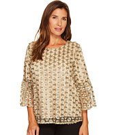 Calvin Klein - Embroidered Bell Sleeve Top
