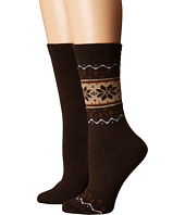 HUE - Blocked Fairisle Boot Socks 2-Pack