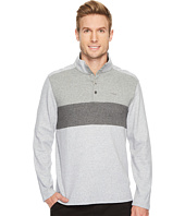 Calvin Klein - Color Blocked Chest Stripe 1/4 Snap Knit