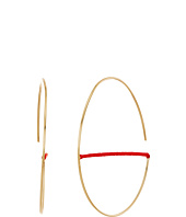 Rebecca Minkoff - Circle Hoop with Thread Earrings