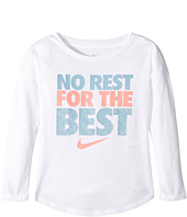 Nike Kids - No Rest For The Best Long Sleeve Tee (Toddler)