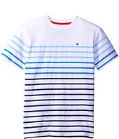 Tommy Hilfiger Kids - Printed Stripe Tee (Toddler/Little Kids)