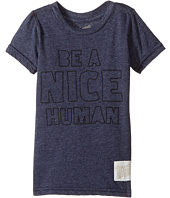 The Original Retro Brand Kids - Be A Nice Human Short Sleeve Tri-Blend Tee (Toddler)