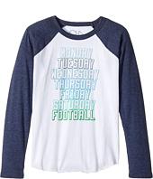 Chaser Kids - Vintage Jersey Long Sleeve Baseball T-Shirt (Little Kids/Big Kids)