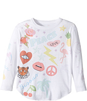 Chaser Kids - Vintage Jersey Long Sleeve Shirttail (Toddler/Little Kids)