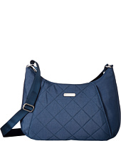 Baggallini - Quilted Slim Crossbody Hobo with RFID