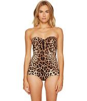 Dolce & Gabbana - Cheetah Cami Strap Maillot Swim One-Piece