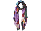 Cashmere/Silk Stole Abstract Brush Stroke Scarf