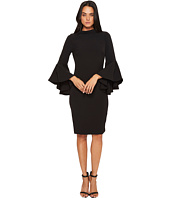 Badgley Mischka - Flare Sleeve Roll Collar Dress
