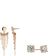 GUESS - Stud and Front Back Earrings with Chain Fringe