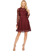 CATHERINE Catherine Malandrino - All Over Lace High Neck Fitted A-Line Dress