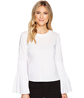 CATHERINE Catherine Malandrino - Scoop Neck Tunic with Smocked Bell Sleeve