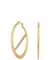 GUESS - Hoop Earrings w/ Pave Bar Inside