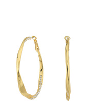 GUESS - Twist Hoop Earrings w/ Pave Accent