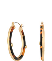 GUESS - Tortoise Hoop Earrings w/ Screw Accents