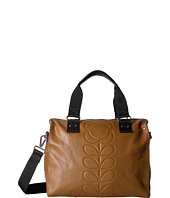 Orla Kiely - Embossed Flower Stem Leather Zip Messenger