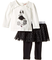 Nanette Lepore Kids - Shopping Girl Tee with Dot Glitter Tutu and Leggings Set (Infant)