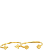 Alex and Ani - Triangle and Circle Ring Set of 2