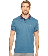 U.S. POLO ASSN. - Slim Fit Printed Short Sleeve Jersey Polo Shirt
