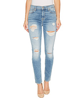 7 For All Mankind - The High Waist Skinny w/ Destory in Light Lafayette 2
