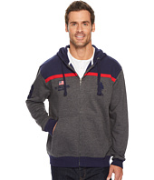 U.S. POLO ASSN. - Color Block Fleece Hooded Jacket