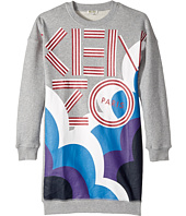 Kenzo Kids - Kenzo Logo Long Sleeves Long Tee Shirt Dress (Big Kids)