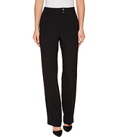 Tahari by ASL - Crepe Pants with Tab Waistband