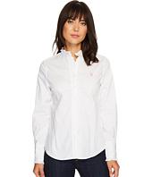 U.S. POLO ASSN. - Ruffle Edged Long Sleeve Shirt