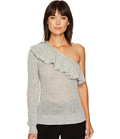 Rebecca Taylor - One Shoulder Ruffle Alpaca Pullover
