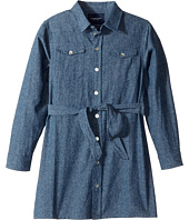 Toobydoo - Soft Denim Belted Shirtdress (Toddler/Little Kids/Big Kids)