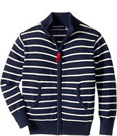 Toobydoo - The Classic Stripe Zip Sweater (Infant/Toddler/Little Kids/Big Kids)