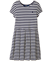 Polo Ralph Lauren Kids - Striped Pleated Ponte Dress (Little Kids)