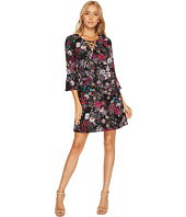 Jessica Simpson - Printed Lace-Up Shift Dress