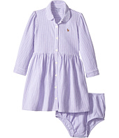 Ralph Lauren Baby - Striped Knit Oxford Dress (Infant)